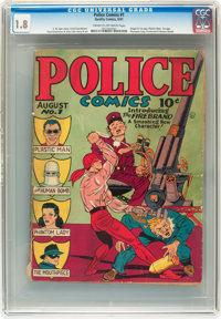 Police Comics #1 (Quality, 1941) CGC GD- 1.8 Cream to off-white pages