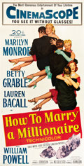 """Movie Posters:Comedy, How to Marry a Millionaire (20th Century Fox, 1953). Three Sheet (41"""" X 81"""").. ..."""