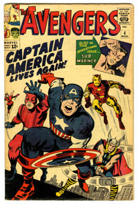 The Avengers #4 (Marvel, 1964) Condition: VG