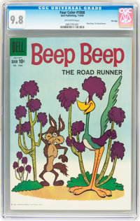 Four Color #1008 Beep Beep, The Roadrunner File Copy (Dell, 1959) CGC NM/MT 9.8 Off-white pages