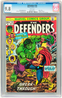 The Defenders #10 (Marvel, 1973) CGC NM/MT 9.8 White pages