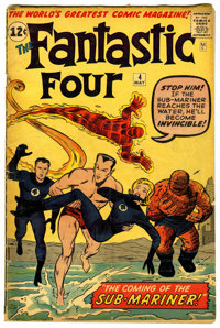 Fantastic Four #4 (Marvel, 1962) Condition: GD+