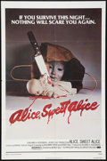 "Movie Posters:Horror, Alice, Sweet Alice (Allied Artists, 1977). One Sheet (27"" X 41"").Horror.. ..."