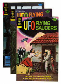 UFO and Outer Space and UFO Flying Saucers File Copies Group (Gold Key, 1968-80) Condition: Average VF+.... (Total: 17 C...