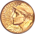 Commemorative Gold, 1915-S G$1 Panama-Pacific Gold Dollar MS67 PCGS. CAC....