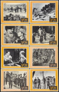"Movie Posters:War, The Green Berets (Warner Brothers, 1968). Black & White LobbyCard Set of 8 (11"" X 14""). War.. ... (Total: 8 Items)"