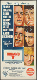 "Movie Posters:Crime, Ocean's 11 (Warner Brothers, 1960). Australian Daybill (13.5"" X30""). Crime.. ..."