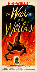 "Movie Posters:Science Fiction, The War of the Worlds (Paramount, 1953). Three Sheet (41"" X 81"").. ..."