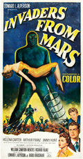 "Movie Posters:Science Fiction, Invaders from Mars (20th Century Fox, 1953). Three Sheet (41"" X81"").. ..."