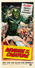 "Movie Posters:Horror, Revenge of the Creature (Universal International, 1955). Three Sheet (41"" X 81"").. ..."