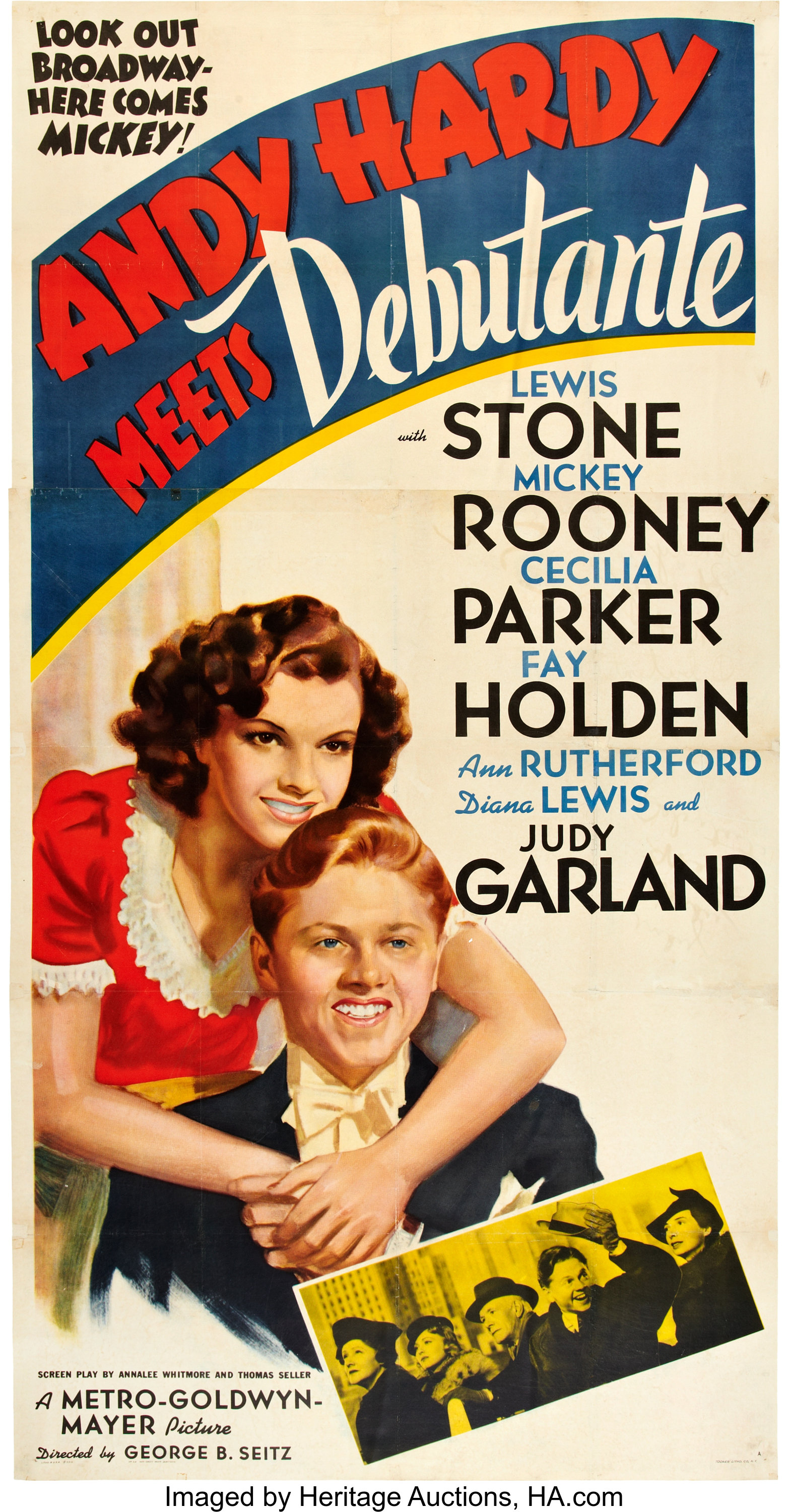"""Andy Hardy Meets Debutante (MGM, 1940). Three Sheet (41"""" X 81"""") 