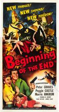 "Movie Posters:Science Fiction, Beginning of the End (Republic, 1957). Autographed Three Sheet (41"" X 81"").. ..."
