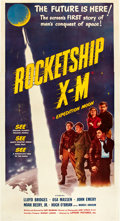 "Movie Posters:Science Fiction, Rocketship X-M (Lippert, 1950). Three Sheet (41"" X 81"").. ..."