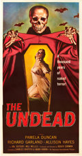 "Movie Posters:Horror, The Undead (American International, 1957). Three Sheet (41"" X81"").. ..."
