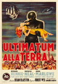 "Movie Posters:Science Fiction, The Day the Earth Stood Still (20th Century Fox, 1952). Italian 2 -Foglio (39"" X 55"").. ..."