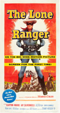 "Movie Posters:Western, The Lone Ranger (Warner Brothers, 1956). Three Sheet (41"" X 81"")....."