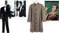 Movie/TV Memorabilia:Costumes, Glenn Ford's Wool Trench Coat from Young Man with Ideas andHis Tuxedo from The Courtship of Eddie's Father... (Total: 2)