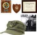Movie/TV Memorabilia:Costumes, Glenn Ford's U.S. Marine Corps Uniform Cap with Naval ReserveInsignia and Marine Corps Plaques.... (Total: 2 )