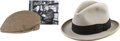 Movie/TV Memorabilia:Costumes, Glenn Ford's Light Gray Trilby Hat and Flat Cap.... (Total: 2 )