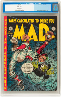 Mad #2 (EC, 1952) CGC NM 9.4 Off-white pages