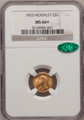 Commemorative Gold, 1903 G$1 Louisiana Purchase/McKinley MS66+ NGC. CAC....