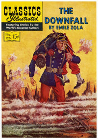 Classics Illustrated #126 The Downfall Printer's Cover Proof (Gilberton, 1950s)