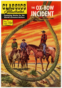 Classics Illustrated #125 The Oxbow Incident Printer's Cover Proof (Gilberton, 1950s)