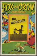 "Movie Posters:Animated, The Fox and the Crow in ""Mr. Moocher"" (Columbia, 1944). One Sheet(27"" X 41""). Animated.. ..."