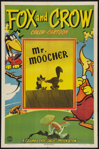 """The Fox and the Crow in """"Mr. Moocher"""" (Columbia, 1944). One Sheet (27"""" X 41""""). Animated"""
