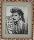 Movie/TV Memorabilia:Autographs and Signed Items, Lucille Ball Large Framed Black-and-White Photo Inscribed toHusband Gary Morton....