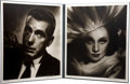 Movie/TV Memorabilia:Photos, Marlene Dietrich and Humphrey Bogart Portfolio Prints by George Hurrell....