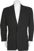 Movie/TV Memorabilia:Costumes, John Wayne's Pinstripe Jacket from Dakota (1945)....