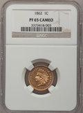 Proof Indian Cents, 1862 1C PR65 Cameo NGC....