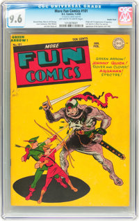 More Fun Comics #101 Double Cover (DC, 1945) CGC NM+ 9.6 Off-white to white pages