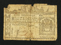 Colonial Notes:New York, New York February 16, 1771 5s Very Good.. ...