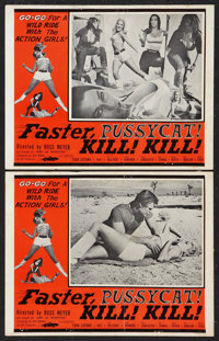 """Faster, Pussycat! Kill! Kill! (Eve Productions, 1965). Lobby Cards (2) (11"""" X 14""""). Adult. ... (Total: 2 Items..."""