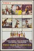 "Movie Posters:War, They Came to Cordura (Columbia, 1959). One Sheet (27"" X 40.5"").War.. ..."