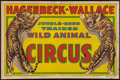 """Movie Posters:Miscellaneous, Circus Poster (Hagenbeck-Wallace, 1930s). Poster (27"""" X 41""""). Miscellaneous.. ..."""