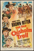 """Movie Posters:Western, The Old Chisholm Trail (Universal, 1943). One Sheet (27"""" X 41""""). Western.. ..."""