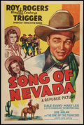 """Movie Posters:Western, Song of Nevada (Republic, 1944). One Sheet (27"""" X 41""""). Western.. ..."""