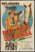 "Movie Posters:Western, Man from Oklahoma (Republic, 1945). One Sheet (27"" X 41""). Western.. ..."