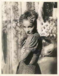 """Marlene Dietrich in """"The Devil is a Woman"""" by Don English (Paramount, 1935). Portrait Photo (10"""" X 13&quo..."""