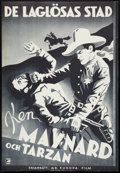 "Movie Posters:Western, The Lawless Legion (Europa Film, 1929). Swedish One Sheet (26.75"" X 39"") Duotone Style. Western.. ..."