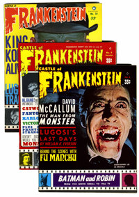 Castle of Frankenstein Group (Gothic Castle Printing, 1966-73) .... (Total: 8 Comic Books)
