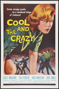 """The Cool and the Crazy (American International, 1958). One Sheet (27"""" X 41"""") Flat Folded. Bad Girl"""