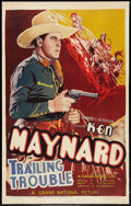 """Movie Posters:Western, Trailing Trouble (Grand National, 1937). One Sheet (25.75"""" X 41""""). Western.. ..."""