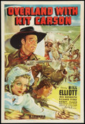 "Movie Posters:Western, Overland With Kit Carson (Columbia, 1939). One Sheet (27"" X 41""). Western.. ..."