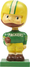 "Football Collectibles:Uniforms, 1960 Green Bay Packers ""Wood Base"" Nodder...."