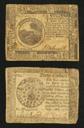 Colonial Notes:Mixed Colonies, Continental Currency $6 November 29, 1775 Fine.. ContinentalCurrency $40 September 26, 1778 Fine.. ... (Total: 2 notes)