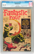 Silver Age (1956-1969):Superhero, Fantastic Four #1 (Marvel, 1961) CGC VG- 3.5 Off-white pages....